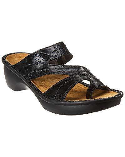Naot Women's Montreal Wedge Sandal, Midnight Black Leather, 40 EU/8.5-9 M US