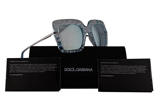 Dolce & Gabbana DG6111 Sunglasses Crystal Azure w/Blue Mirror Lens 51mm 31346J DG - Gabbana Blue And Sunglasses Dolce