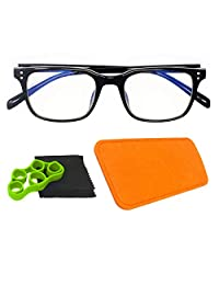 HI-SCORE VISION Blue Light Blocking Gaming Glasses Includes Trigger Finger Trainer, Case, and Cleaning Cloth