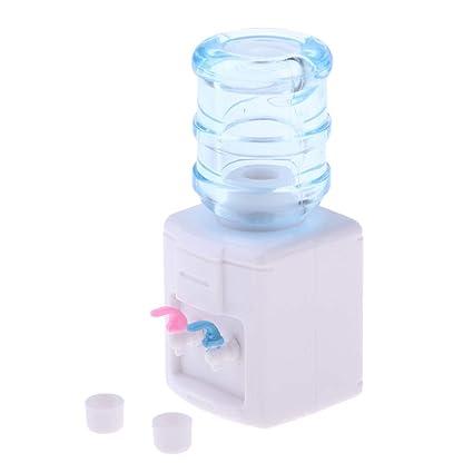 F Fityle Modelo Fuente de Agua Miniatura Dispensador para Dollhouse 1/12