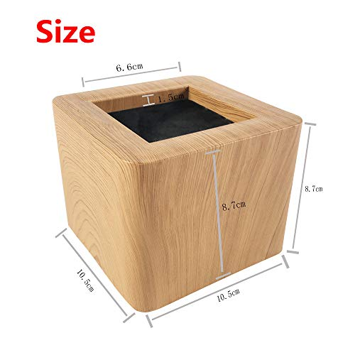 FONDDI Bed and Furniture Risers, 3 inch, 4 Pack, Heavy Duty Bed Lifts, Original Wooden Color (ABS), Couch, Desk, Tables or Chairs Risers, More Realistic Woody Feel, 1000kg/2200lbs