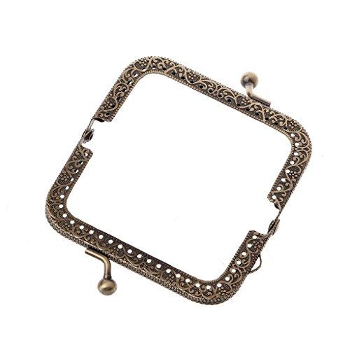 Lamdoo 1 STÜCK Metallrahmen Kuss Verschluss Bogen Für Geldbörse Tasche Zubehör DIY Bronze 8,5 cm