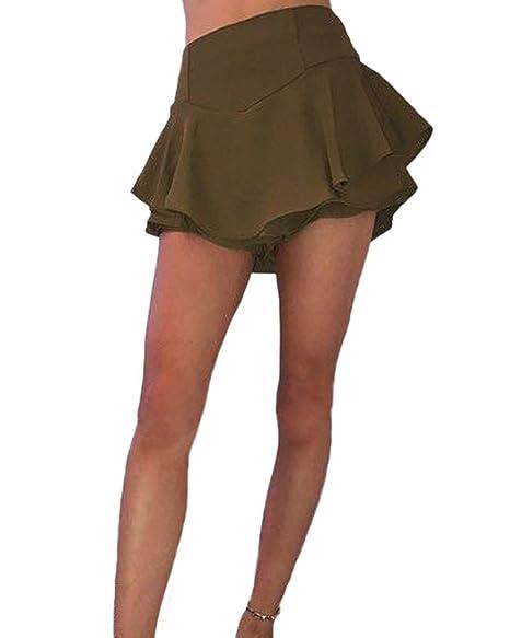 HEHEAB Falda División De Playa De Moda De Verano Falda Mini Faldas ...
