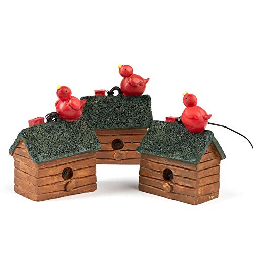 (Factory Direct Craft Miniature in The Woods Birdhouse Ornaments | Set of 9 )
