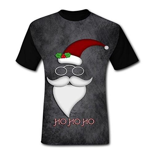 LZQ Tshirt Man Crew Neck New Slim fit Shirt 3D Make Custom With Santa Claus For Men -