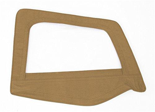 Smittybilt Door Skin (Smittybilt 89517 Black Diamond Passenger Side OEM Replacement Soft Top Door Skin with)