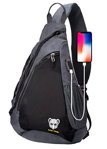 Sling Bag - Crossbody Backpack for Women & Men Travel Shoulder Chest Bags One Strap Pack by Polar Panda 1 Chest Pack