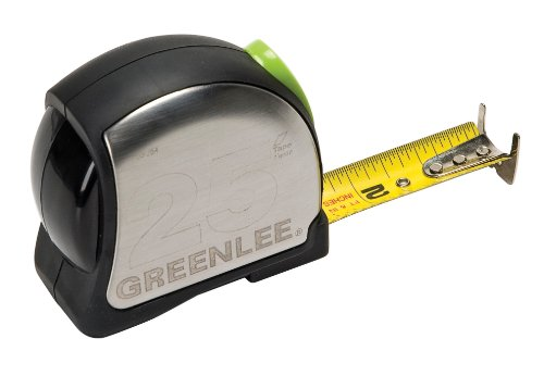 Greenlee 0155-25A Power Return Tape Measure, Double Sided, 25-Foot