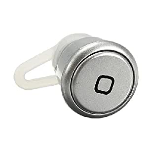 Comtop Smallest Wireless Stereo Music Bluetooth 3.0 Headset Hands-free Earphone Headphone-White (Silver)