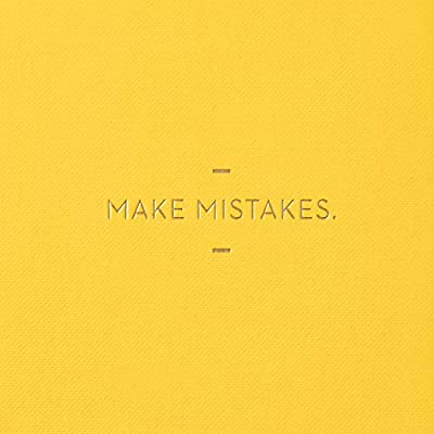 Motto Journal by Compendium: Make Mistakes. — Flexi-cover with woven ribbon, 144 dotted grid pages: Office Products