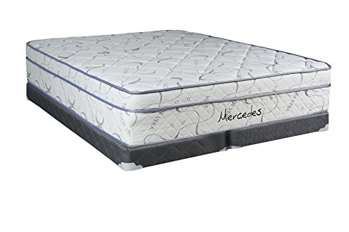 Spring Set Box Split - Continental Sleep Mattress, 12-Inch Orthopedic Pillow Top Full Size Mattress with 5