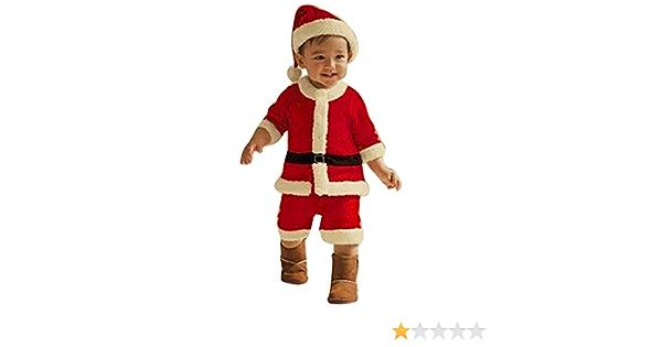 Toddler Baby Boys Girls Christmas Outfits Santa Tops Coat+Long Pants+Hat Clothes