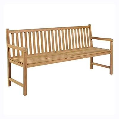 """HomyDelight Outdoor Bench, Garden Bench 70.9"""" Solid Teak"""