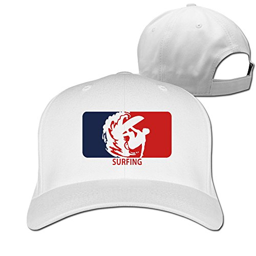 - Bali Surfing Wave Logo White Adjustable Baseball Hats For Man Woman