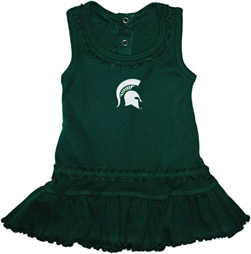 - Michigan State University Spartans Ruffled Tank Top Dress with Bloomer Set