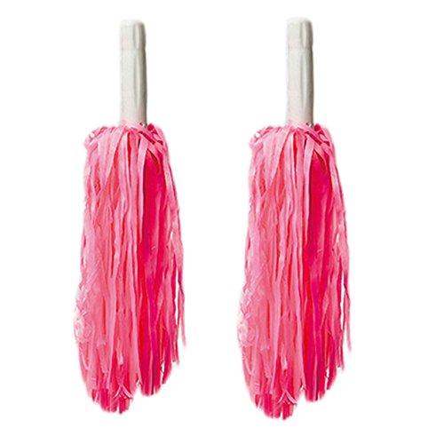 Rose 30 Poms long Cheerleading Rouge plastique cm de Paire en 8rT8x