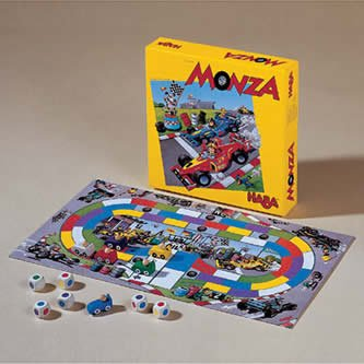 HABA Monza - A Car Racing Beginner's Board Game Encourages Thinking Skills - Ages 5 and Up (Made in Germany) ()