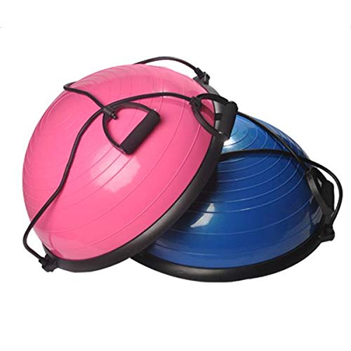 Genetic Los Angeles Yoga Ball Balance Hemisphere Fitness for Gym Office Home Pink