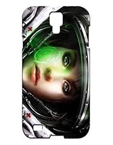 StarCraft II Wings of Liberty Cell Phone Cover Case Hülle for Samsung Galaxy S4 I9500 Funda Piel Cool Game Girls Boys (Negra and Diseño) 3D Hard Plastic Protective Luz Vintage Shock Absorption Case for Galaxy S4