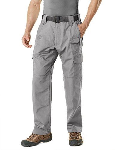CQR Men's Tactical Pants Lightweight EDC Assault Cargo, Duratex Mag Pocket(tlp105) - Stone, 36W/36L