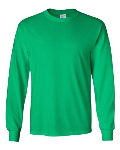 Gildan Ultra Cotton 6 Oz. Long-Sleeve T-Shirt (G240)- Irish Green,XXX-Large