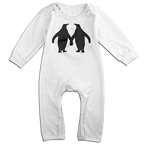 Penguin Couple Silhouette Long Sleeve Newborn Baby Bodysuit 6-24 Months Bodysuit by UGFGF-S3