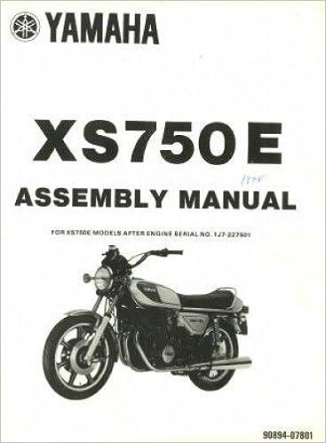 LIT-11666-01-04 1978 Yamaha XS750E Assembly Manual