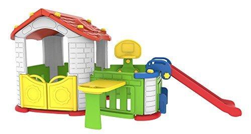 Children's Sunshine Modular Playhouse with garden, basketball hoop and slide Kid's Play Pen by JLS by JLS LTD