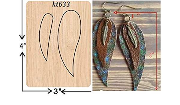 Leather Earring Cutting Die Duo Irregular Pinch Leaf Earring Sizzix Compatible   Manual Leather Cutting JT415