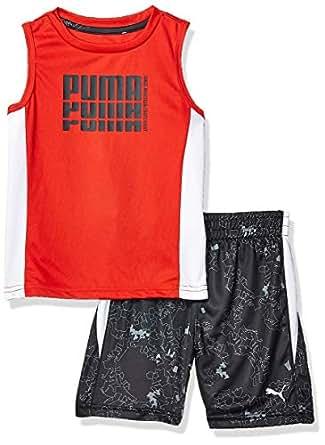 PUMA Toddler Boys' Tank & Short Set, High Risk Red, 2T