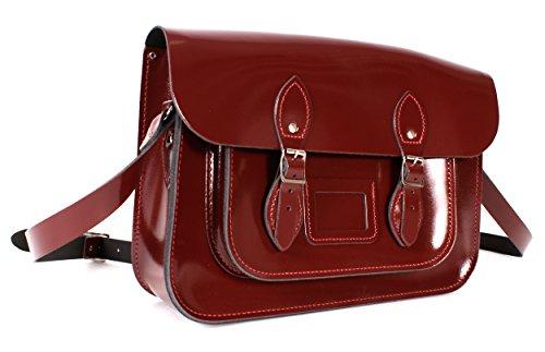 Oxbridge Bolso cartera Satchel's rojo de estilo mujer para Piel wx6wrA1