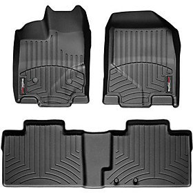 Equinox Weathertech Floor - WeatherTech Custom Fit Rear FloorLiner for Chevrolet Equinox, Black