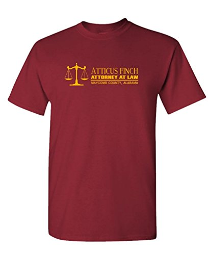 ATTICUS FINCH ATTORNEY AT LAW - mockingbird - Mens Cotton T-Shirt, M, - Atticus Clothing Finch
