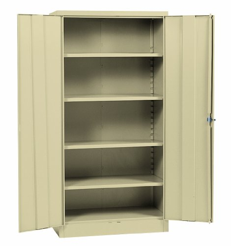 Sandusky Lee RTA7000-07 Putty Steel SnapIt Storage Cabinet, 5 Adjustable Shelves, Powder Coat Finish, 72