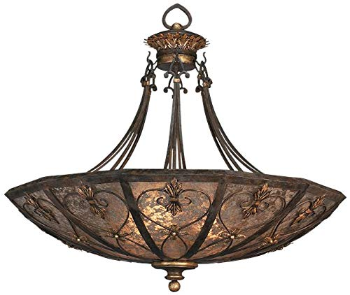 EuroLuxHome Pendant Villa 1919 3-Light Gilded Accents Umber Gold Brown/Beige/Tan Mica
