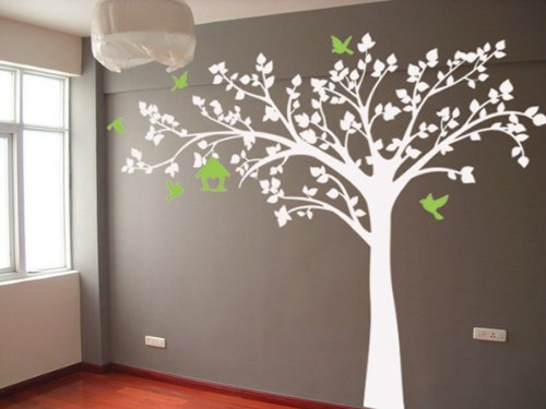 Pop Decors PT-0116VG Beautiful Wall Decals, Big Tree with Love Birds, 100