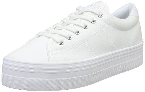 Zapatillas de de Mujer Fox Name Plato White No Deporte Blanc Canvas White Blanco ERCxq6wnX