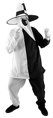 Spy Costume Womens (elope Mad Spy Costume, Black/White, Large/X-Large)