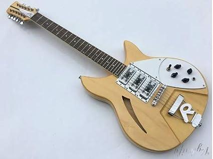 Guitarra eléctrica de 12 cuerdas, 24 trastes, color natural ...