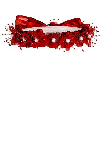 AMJ Dresses Inc Girls One Size Red Flower Girl Hair Wreath