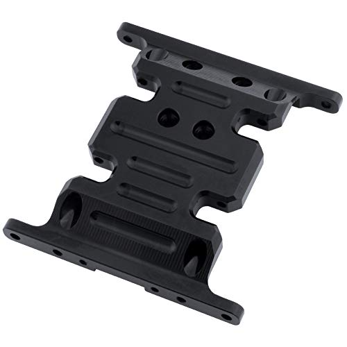 Hobbypark Aluminum Center Frame Brace Transmission Skid Plate for AXIAL SCX10 1/10 RC Rock Crawler Car Option Parts (Black)