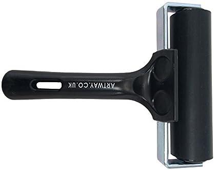 Artway - Linolwalze aus Hartgummi - fü r Linoldruck und Blockdruck - schwarzer Griff - 20 cm Artway Ltd