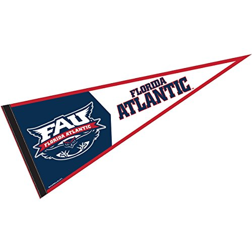 College Flags and Banners Co. Florida Atlantic Pennant Full Size Felt ()