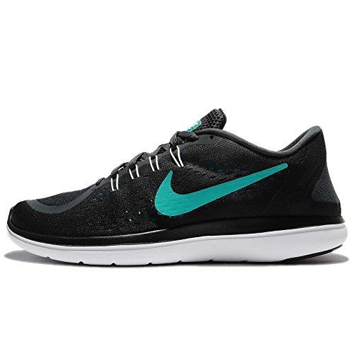 Nike Heren Flex Rn 2017 Hardloopschoen Antraciet / Clear Jade / Zwart / Stormachtige Maat 14 M Ons