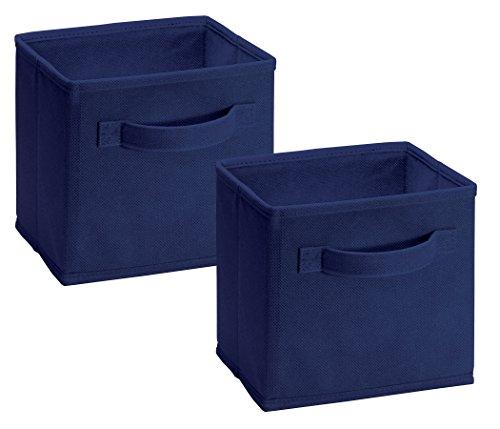 Closetmaid 1577 Cubeicals Mini Fabric Drawers, Blue, 2 Pack -