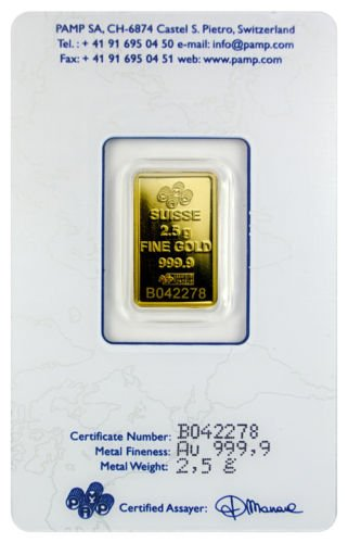 PAMP Suisse Fortuna With Assay Certificate-2.5-Gram