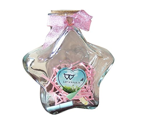 (MasterChinese 30 Fl. Oz (900ML) Large Origami Star Glass Jar with Cork Lid)