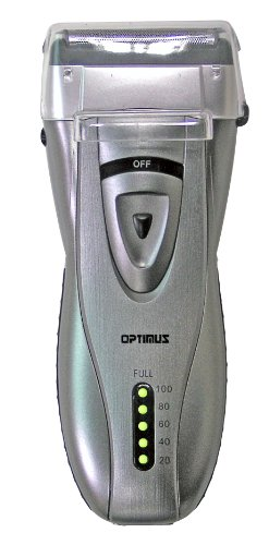 Optimus 50046 Curve Rechargeable Triple Blade Wet/dry Men's Shaver, Black/silver -