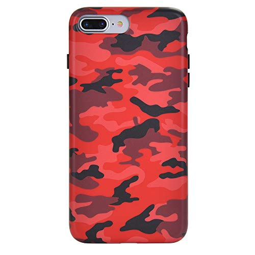 Red Camo iPhone 8 Plus Case/iPhone 7 Plus Case - Premium Protective Cover - Cool Phone Cases for Girls & Men [Drop Test Certified]