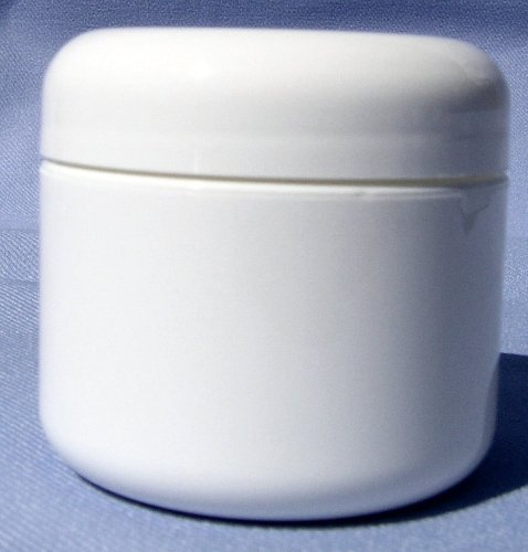 White Plastic Jar with Dome Lid 4 Oz - 12 Per Bag